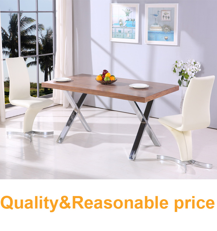 modern marble dining room table sets with chrome steel legs