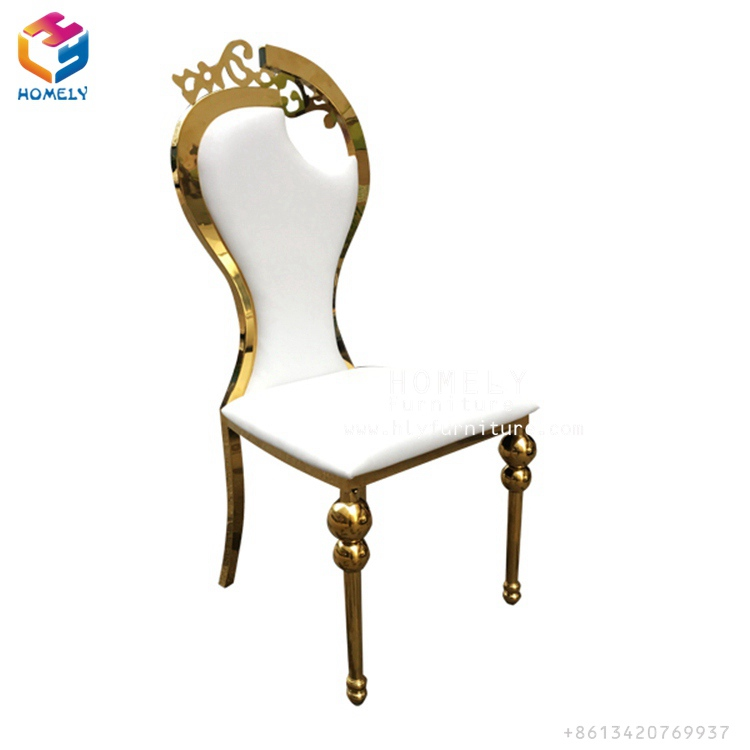 wedding reception high back stainless steel king <strong>chair</strong>