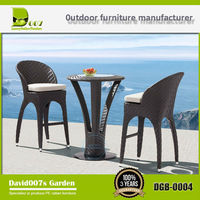 Bar rattan furniture outdoor table and chair DGB-0004