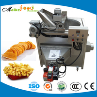 Commercial restaurant double deep fryer, potato chips frying machine