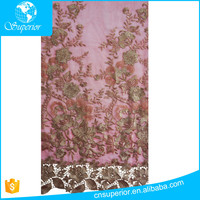 2016 NEW African favourite mesh lace fabric Water soluble cloth chemical lace embroidery fabric