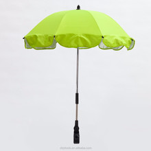 New Hot Sale Baby UV Protection 360 Degrees Adjustable Direction Green Color Stroller Umbrella