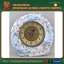 Custom elegant round table decoration resin wholesale clocks