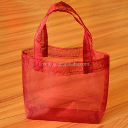 Good quality stylish organza canvas tote bag plain