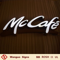 Fashion customized plastic led letter