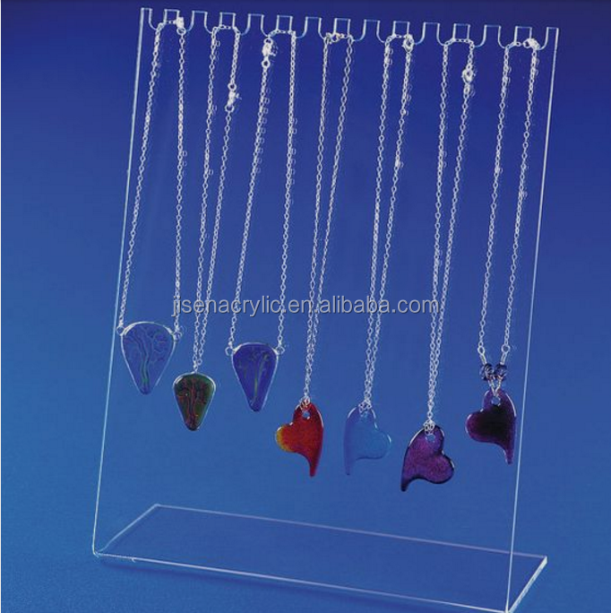 Fashion Acrylic Jewelry Display Rack High Quality Necklace Pendant Drop Chain Display