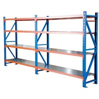 Customized Medium Duty Metal Shelves For Warehouse Storage Rack