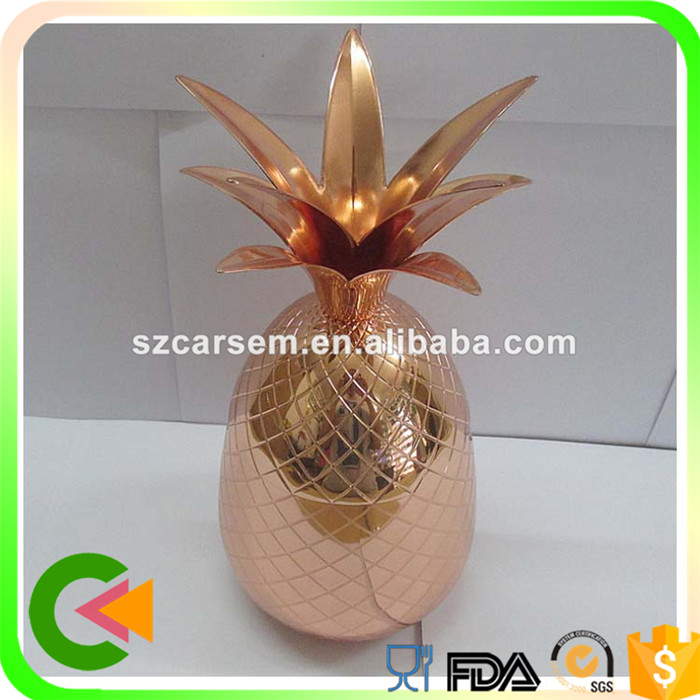 High quality hotel use stainless steel hammered copper pineapple mug