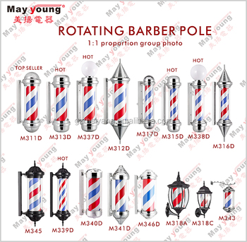 Top selling Red white blue Modern hair salon equipment Barber shop pole
