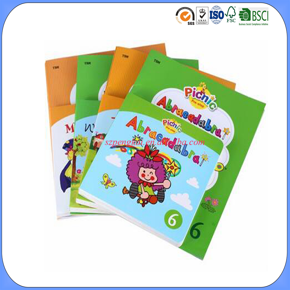Custom top popular cartoon picture kids story books softcover hard cover printing book for kids