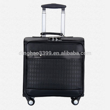 New style genuine leather trolley bag,high quality travel bag,luggage bag with spinner wheels