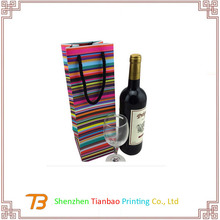 cheap Foil Hot Stamping Finish single wine bottle bags