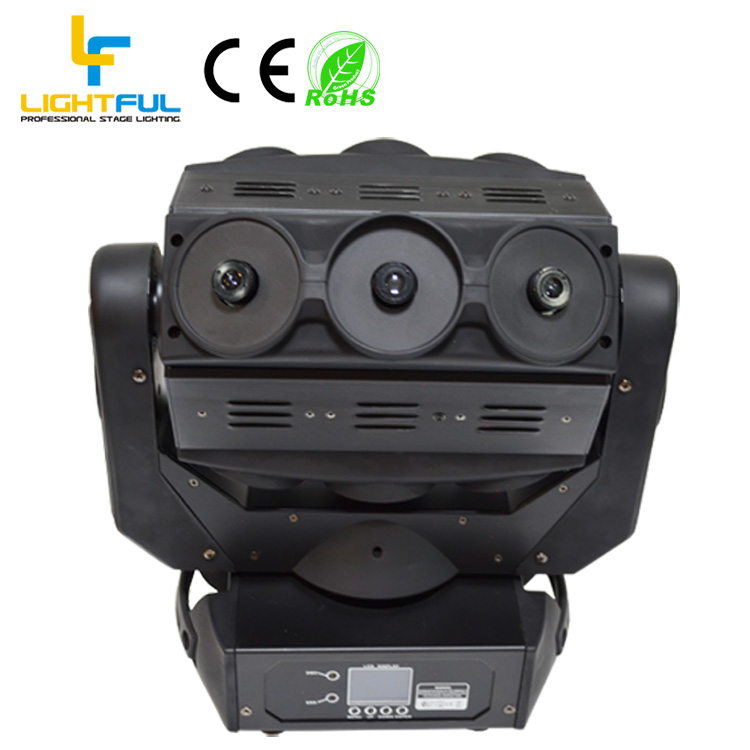 720mW 9 head Green fat-beam spider moving head stage laser light