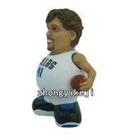 resin statues basketball player souvenir resin bobble head figurine