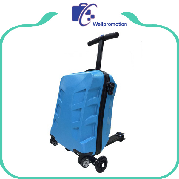 OEM kids ride-on suitcase scooter hard trolley travel luggage, kids scooter suitcase