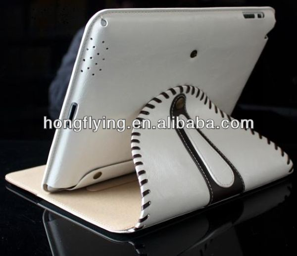 2014 Luxury Leather 360 Rotating Stand Smart Protection Case Cover For iPad 2 3 4