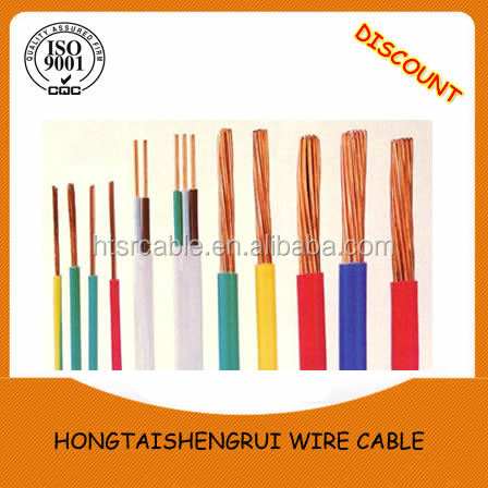Building wire PVC insulated 2.5mm electric cable wire color code
