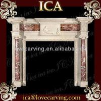 Best price french style stone fireplace mantel indoor used wall decorative fireplace