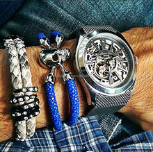 Top selling genuine stingray leather bracelet and watches ladies bracelet wrist watch for Laidy