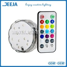 Submersible 3'' Led Light Base For Swimming Pool Decoration With Remote Control