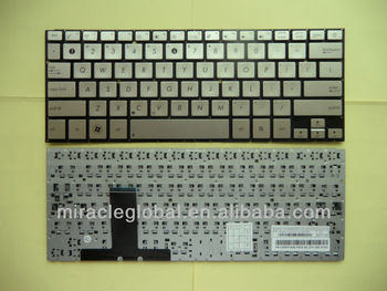 Laptop US keyboard for Asus UX31E silver