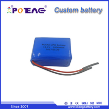 Small mini lithium polymer 603450 12V 1A 1Ah portable rechargeable battery made in China for Bluetooth Speaker