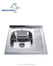 Kitchen stainless steel sink with water drop tray (ACS6064)
