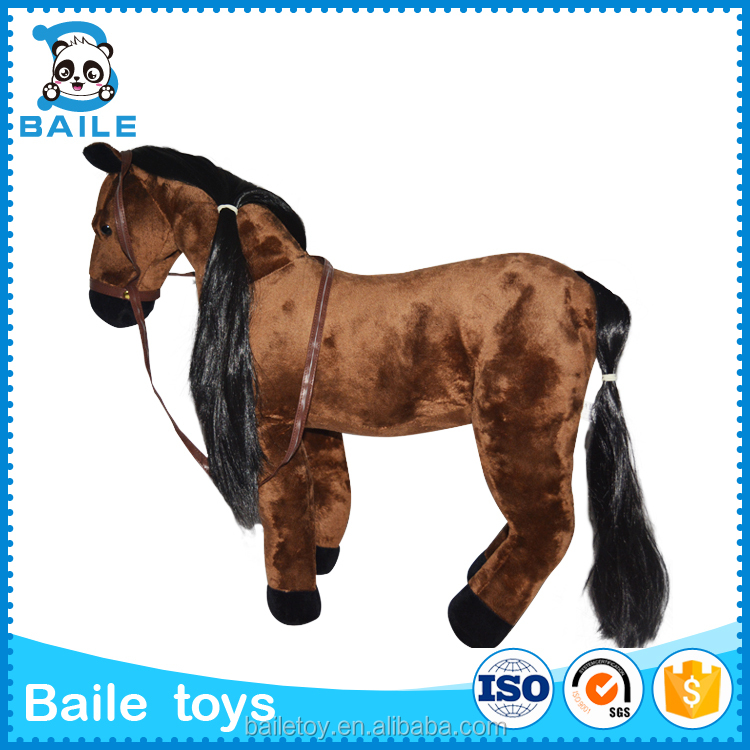 2016 promotional custom stuffed plush happy horse shape animal toys