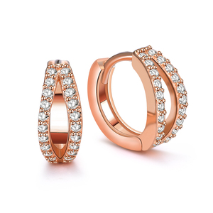 CKE007 Beautiful zircon hoop earrings china wholesale earrings