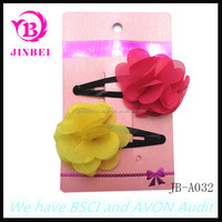 Factory Supply Colourful Flower For Girls Accessories