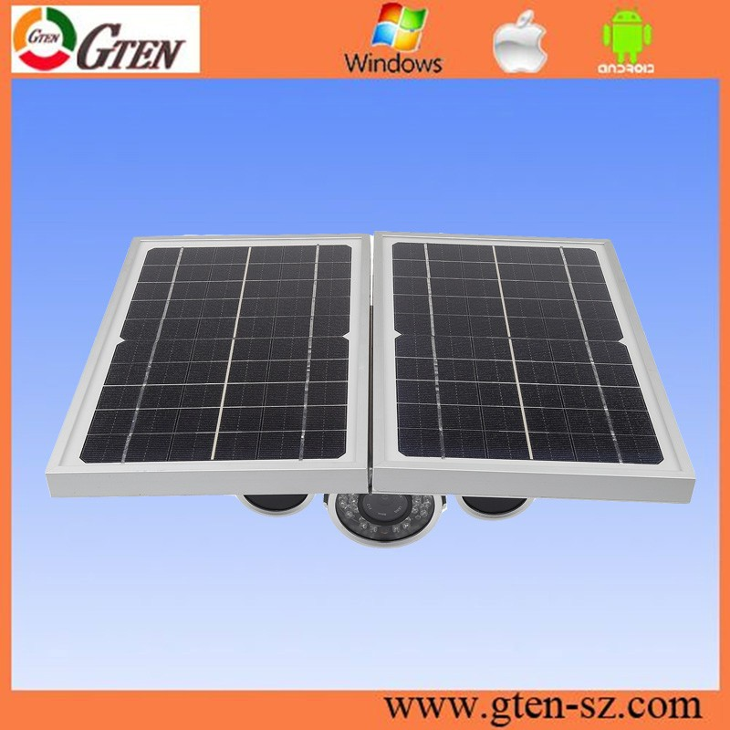 New Arrival GH0029 solar powered outdoor camera HD 720P AP solar power ip camera with 1/4 Cmos 1MP support Onvif 2.1