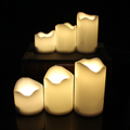 2017 Newest Design Plastic Material Led Yellow flame Candle