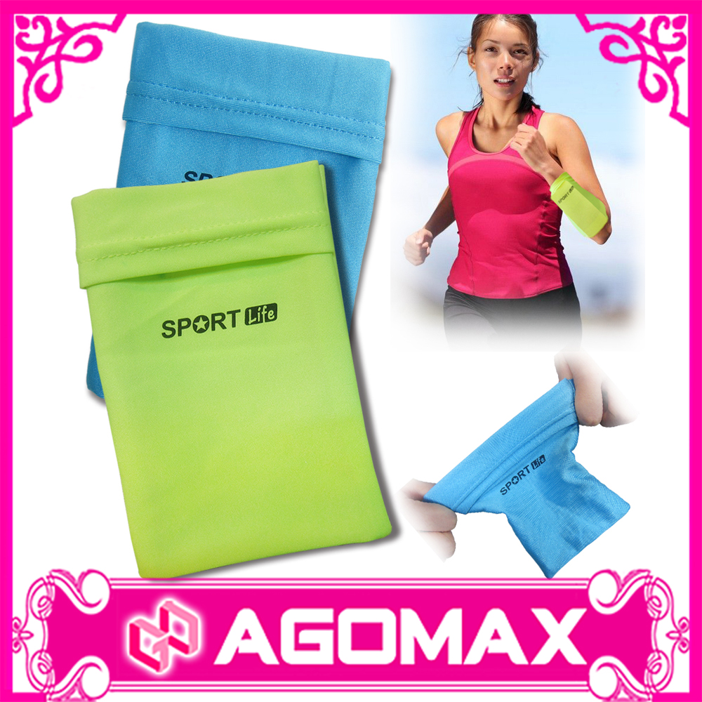 Sports arm bag soft magic Lycra wrist cell phone wrist pouch factory