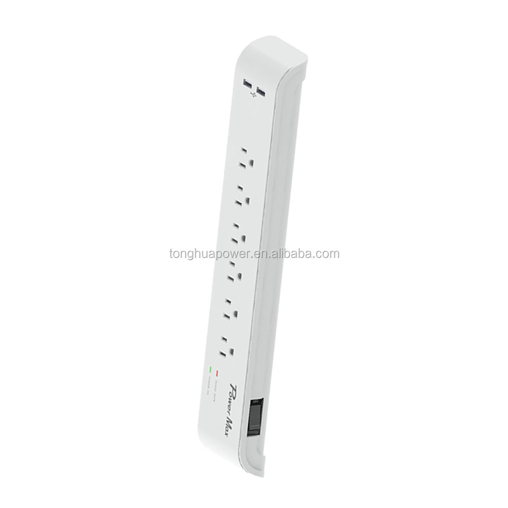 American 6 outlet power bar, power extension socket , UL 120V UL listed Universal Surge Protector Power Strip