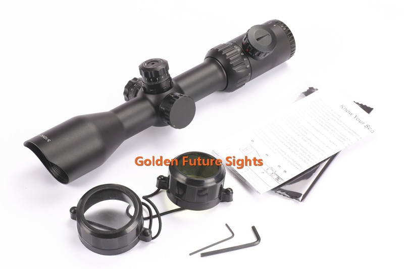 3-12x42SF Riflescope with Illuminated Mil-Dot Reticle,Wide F.O.V hunting riflescope