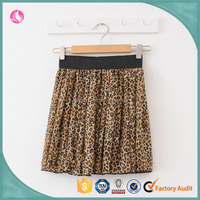 Fashion lady Leopard grain printing elasticated waist skirt/overskirt