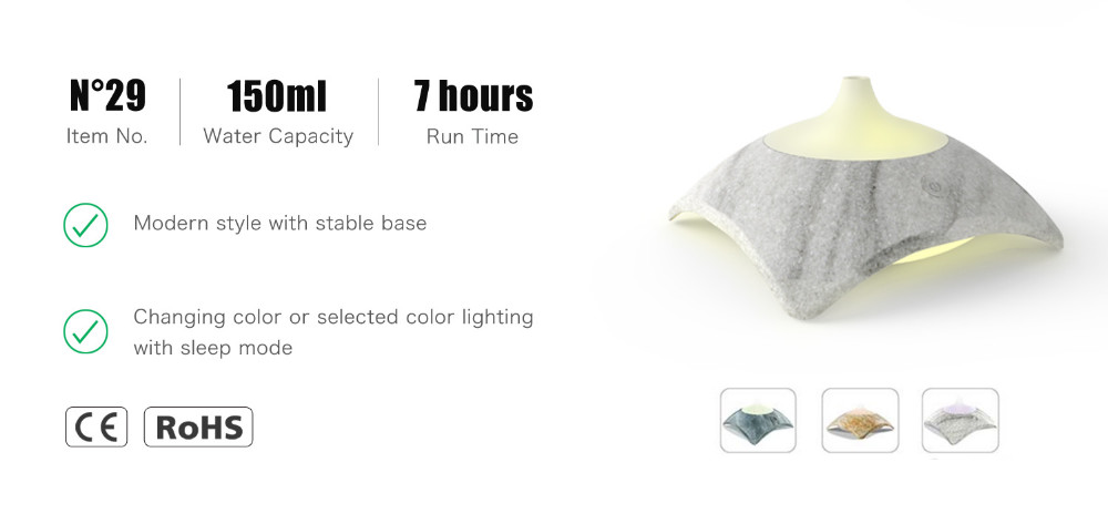 Ultransmit Color Changing Aroma Lamp/Ultrasonic Aroma Diffuser with Colorful Led Lights for Aromatherapy