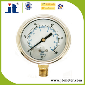 "2"" Stainless Steel Case Bezel Ring Pressure Gauge With Oil"
