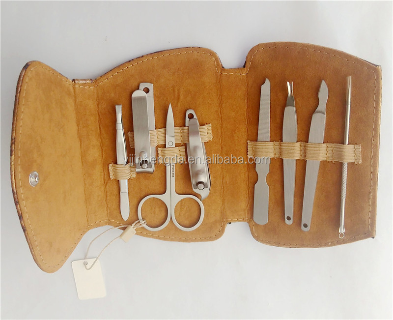 Hot sale handbag manufacturer manicure set