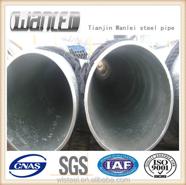large diameter schedule 40 galvanized seamless steel pipe