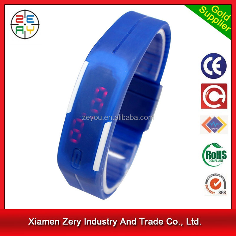 R0798 Popular Customized Logo Kids Silicone Wristband Watch 2016, Cheapest LED Digital Kids Watch
