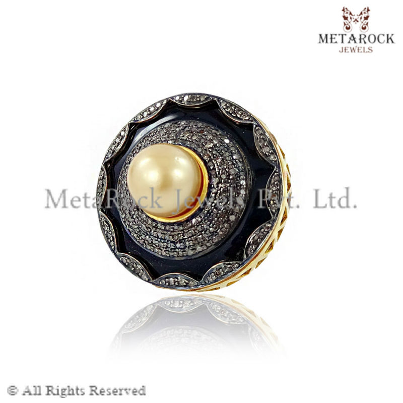 Pearl Gemstone Ring Antique Ring Women Jewellery 925 Sterling Silver Handmade Ring Jewelry Wholesale Manufacturer