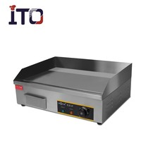 CI-818 Table Top Stainless Steel Electric teppanyaki griddle grill with full flat