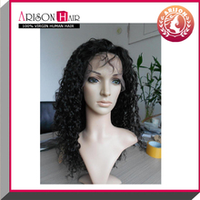 Human hair afro kinky curly lace front wig