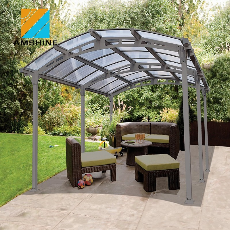 Aluminum Double Carport Garage With Polycarbonate Sheet Roofing