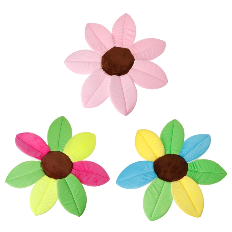 Blooming lotus flower shape baby mat soft plush mattress toy cute 5a61323 mightylinksfo