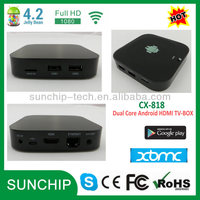 CX-818 Android TV Box Media Player - Dual Core Smart Internet 1080p HD WiFi Streaming Player Running Android 4.2.2 FULLY LOADED