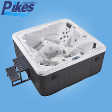 Portable inflatable spa pool / square hot tub / bubble spa 5 person