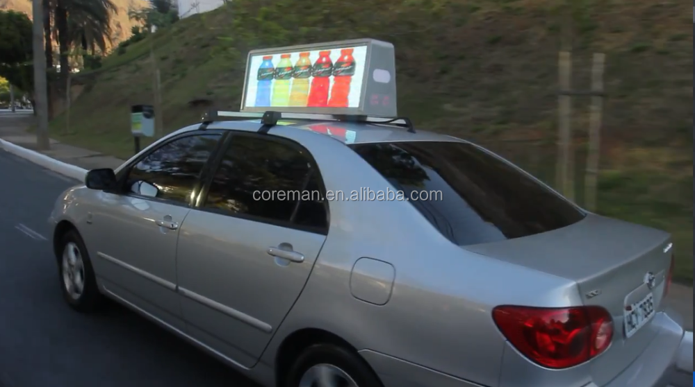 Coreman P10 P12 direct sell LED taxi display sign / double color P5 sides red and green and blue