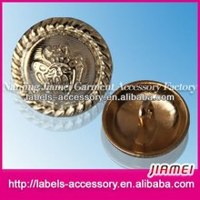Wholesale embossed designed metal military buttons for jacket